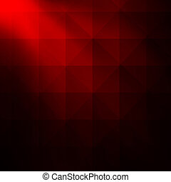 Red geometric abstract background