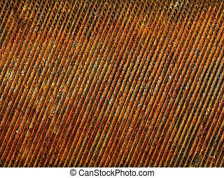 Rusty metal closeup background.