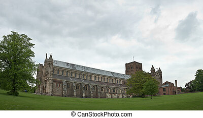 The Cathedral and Abbey Church of Saint Alban - view of the...