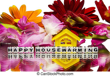 Housewarming with flowers - Housewarming message with...
