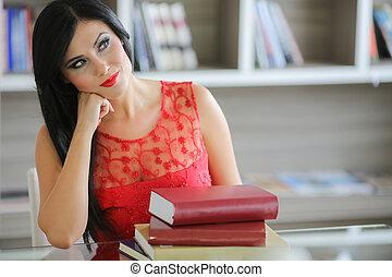 婦女, 書, 年輕