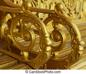 Ornament of gold plated on the victorian Style