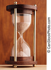 hourglass - selective focus on center of sand glass, XXXL...