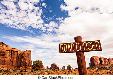 Monument Valley - Complementary colours blue and orange in...