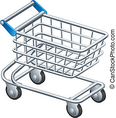 Shopping trolley icon - An illustration of a shopping...