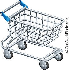 shopping, bonde, ícone
