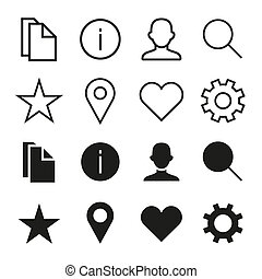 ios 7 icons set - icons set in ios 7 style. Select and...