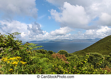 Scenic landscape at the Ring of Kerry