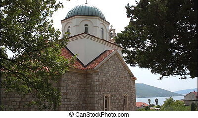 Church in Kumbor, Montenegro, side view