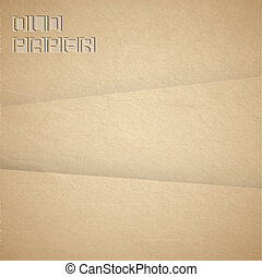 Vector background of brown old paper