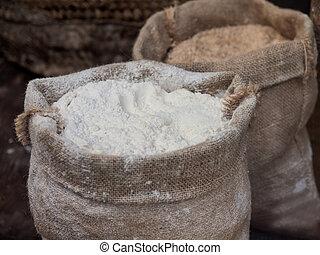 Flour in a sack