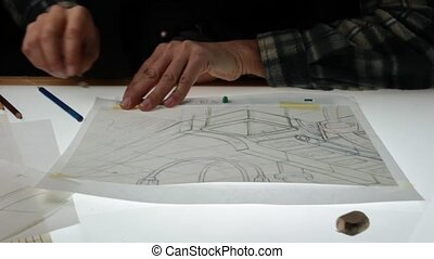 working in the 2d animation - pencil drawing animator