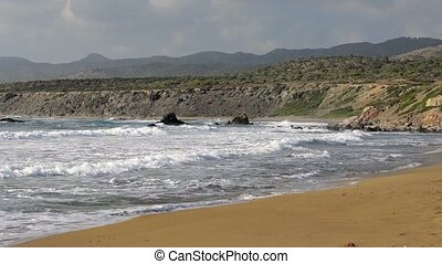 Coast of Akamas peninsula on Cyprus