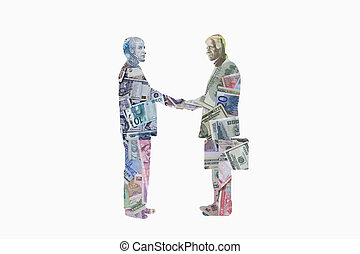 Businessmen shaking hands - Illustration of businessmen...