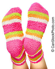 multicoloured socks - fun terry-cloth multicoloured socks