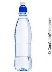 Isolated water bottle - Isolated sport water bottle over...