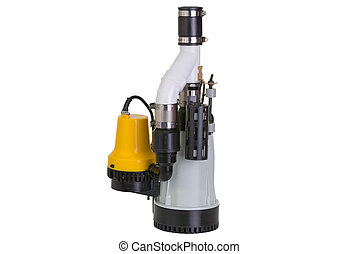 Sump pump with emergency backup pump - New sump pump with an...