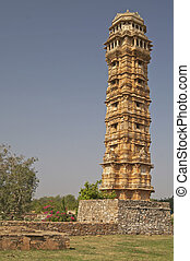 Ornate Victory Tower - Ornate carved stone victory tower...