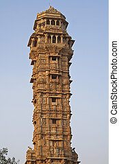 Victory Tower - Ornate carved stone victory tower (Vijay...