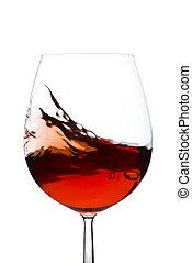 Mudanza, rojo, vino, vidrio