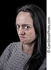 angry woman portrait