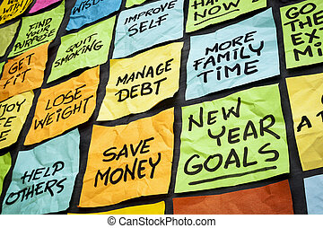 new year resolutions - new year goals or resolutions -...