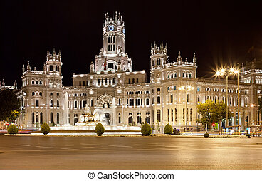 Palace in Madrid - Central Post Office - Palacio de...