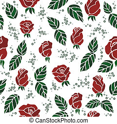 Seamless background with roses - Illustration of seamless...