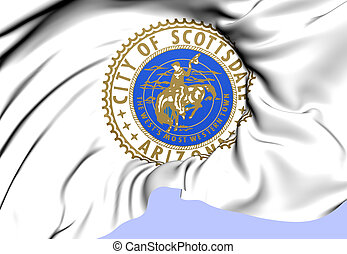 Scottsdale Coat of Arms, USA. Close Up.
