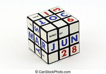 Wednesday, June 28th - Puzzle calendar set to show date of...