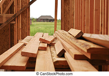 Lumber for house - New construction lumber for a house frame