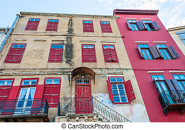 Urban scene - Mediterranean ancient houses and narrow...