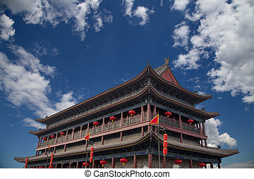 Fortifications of Xian Sian, Xian an ancient capital of...