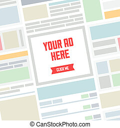 Your AD here flat illustration - Flat design modern vector...