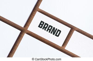 Brand design presentation concept