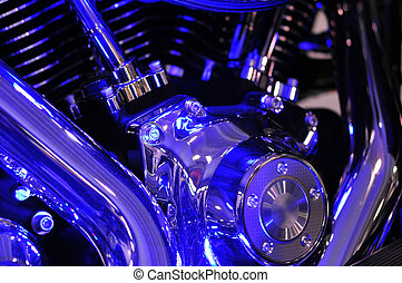 Motorbike engine blues - Harley Davidson twin cam motorbike...