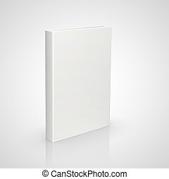 front view book - front view of blank book on white...