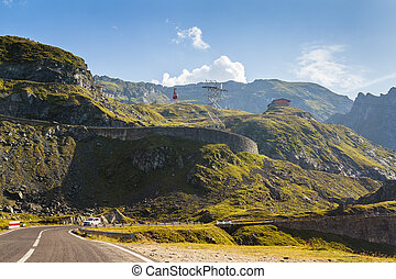 Alpine highway landscape - Serene view of Transfagarasan...