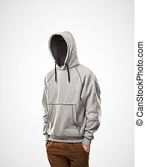 invisible man on a white background