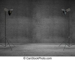 photography studio with a light set-up