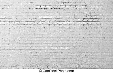 parede, branca, tijolo