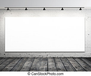 blank picture on wall in grunge room