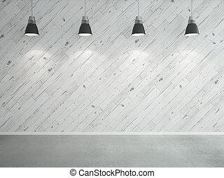 laminate, parede, lâmpadas