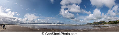 Panorama at Inch beach, Iveragh Peninsula, County Kerry,...