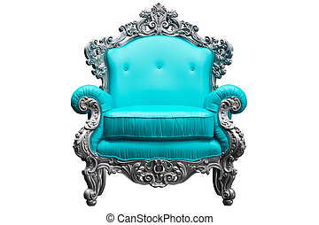 Baroque armchair with tpink worker strikes