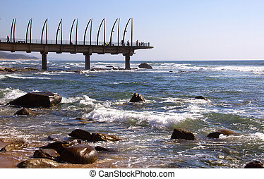 View Of Landmark Pier At Umhlanga Rocks, Durban, South...