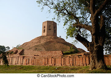 Chaukhandi Stupa in Sarnath,India - Chaukhandi Stupa in...