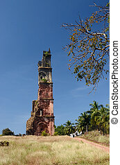 Ruins of St.Augustine church in Old Goa