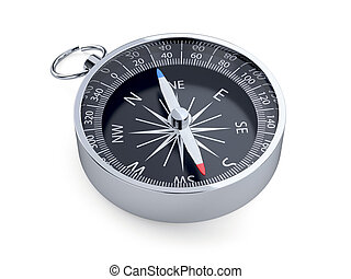 Compass isolated - 3d render of compass isolated on white...
