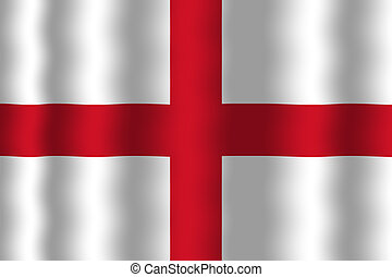Waving England Flag